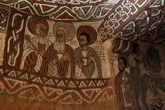Iconographic scenes in Abuna Yemata church in Ethiopia Royalty Free Stock Images