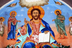 Iconography. In Sokol monastery in Bulgaria ,older over 400 years.The author is unknown Stock Photo