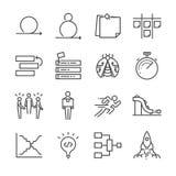 Iconos ágiles del desarrollo de programas fijados libre illustration