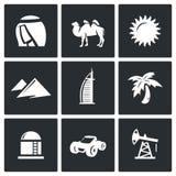 Iconos árabes de los emiratos Ilustración del vector Imagen de archivo