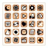 Iconos útiles 1 - versión 2 Imágenes de archivo libres de regalías