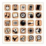 Iconos útiles 2 - versión 2 Imágenes de archivo libres de regalías