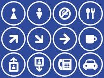 Iconos útiles del vector fijados Fotografía de archivo