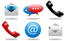 Iconos 01 de las comunicaciones Imagen de archivo libre de regalías