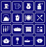 Iconos 01 de los utensilios de cocina Imágenes de archivo libres de regalías