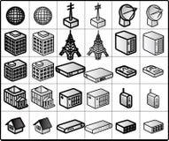 Iconos #01 del establecimiento de una red Fotos de archivo libres de regalías