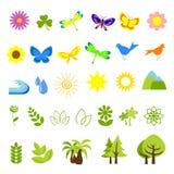 Iconos 05 de la naturaleza Imágenes de archivo libres de regalías