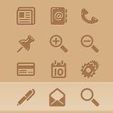Iconos 1 del blog Fotos de archivo libres de regalías