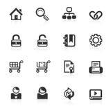 Iconos 1 del Web y del Internet - serie del minimo Foto de archivo
