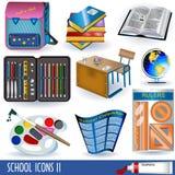 Iconos 2 de la escuela Fotos de archivo libres de regalías
