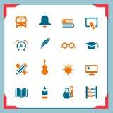 Iconos 2 de la escuela | En una serie del marco Fotos de archivo