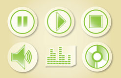 Iconos 2 de la música Foto de archivo libre de regalías