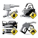 Iconos 2 del servicio del automóvil Fotografía de archivo libre de regalías