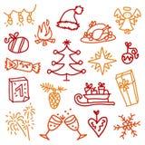 Iconos 3 de la Navidad Fotos de archivo