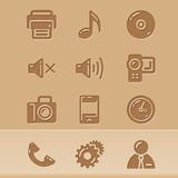Iconos 3 del blog Imagen de archivo