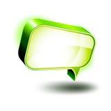 iconos 3D: Rectángulo brillante de la charla Imágenes de archivo libres de regalías