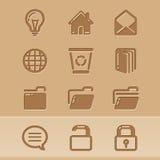Iconos 4 del blog Imagen de archivo