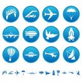 Iconos aéreos Ilustración del Vector