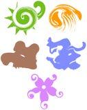 Iconos abstractos Stock de ilustración