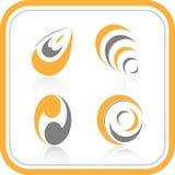 Iconos abstractos de Internet del vector Imagenes de archivo