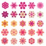 Iconos abstractos de la flor stock de ilustración