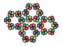 Iconos abstractos de la flor Fotografía de archivo libre de regalías