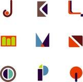 Iconos abstractos de la letra Fotos de archivo