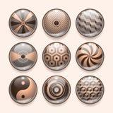 Iconos abstractos del App Fotos de archivo libres de regalías
