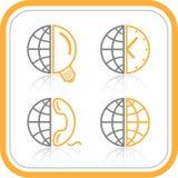 Iconos abstractos del Internet del vector Foto de archivo libre de regalías