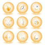 Iconos abstractos del Internet del vector Fotografía de archivo