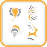 Iconos abstractos del Internet del vector Imagen de archivo