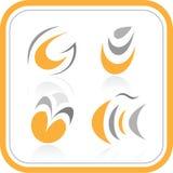 Iconos abstractos del Internet del vector Fotos de archivo libres de regalías