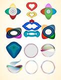 Iconos abstractos del Web Foto de archivo libre de regalías