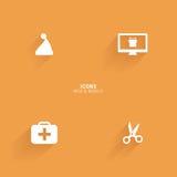 Iconos abstractos del Web Imagen de archivo