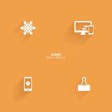 Iconos abstractos del Web Foto de archivo