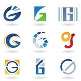 Iconos abstractos para la letra G Foto de archivo