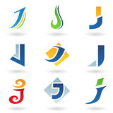 Iconos abstractos para la letra J Fotografía de archivo libre de regalías