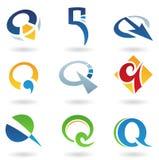 Iconos abstractos para la letra Q Imágenes de archivo libres de regalías