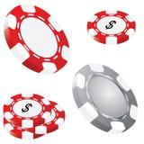 Iconos afortunados del póker Imagenes de archivo