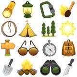 Iconos al aire libre y del campo - ejemplo Foto de archivo libre de regalías