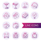 Iconos alineados vector a mano Fotos de archivo libres de regalías