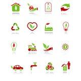 Iconos ambientales Foto de archivo