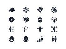 Iconos ambientales y de la gente Serie de Lyra Imagen de archivo