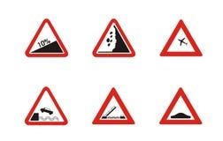Iconos amonestadores Stock de ilustración