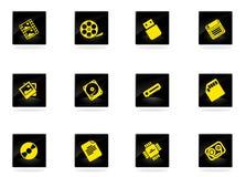 Iconos analíticos de los datos simplemente Fotografía de archivo