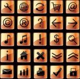 Iconos anaranjados del Web Foto de archivo
