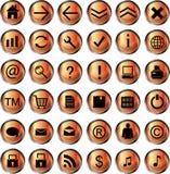 Iconos anaranjados del Web