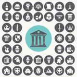 Iconos antiguos fijados Fotos de archivo libres de regalías