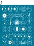 Iconos audios fijados libre illustration