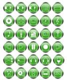 Iconos audios fijados ilustración del vector